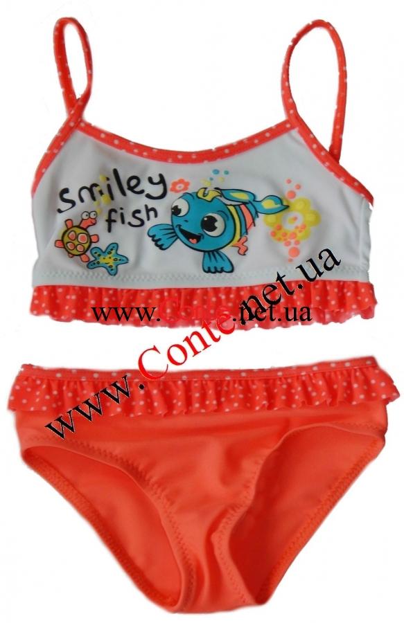 73e9d58c0a052 Купить купальник для девочки 104-110 см. с рыбками Smiley