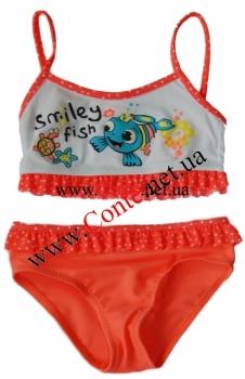 Детский купальник ESLI™ Smiley коралловый